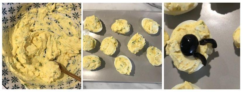 procedimento uova ripiene