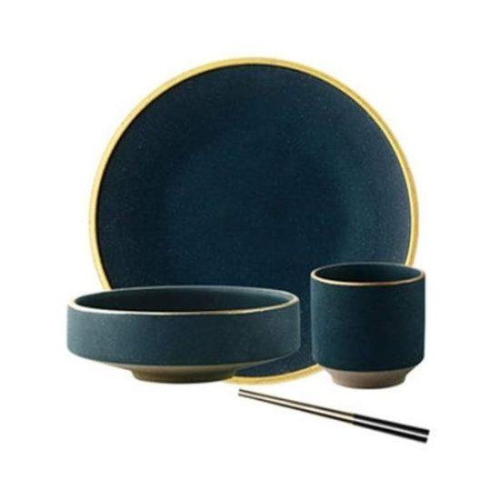 Set piatti d'oro stile nordico