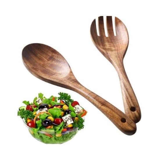 Posate da insalata in Legno