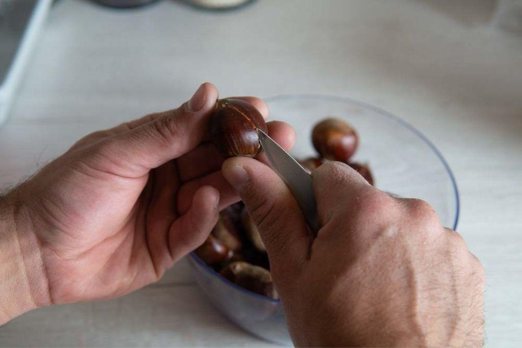 Procedimento castagne al forno
