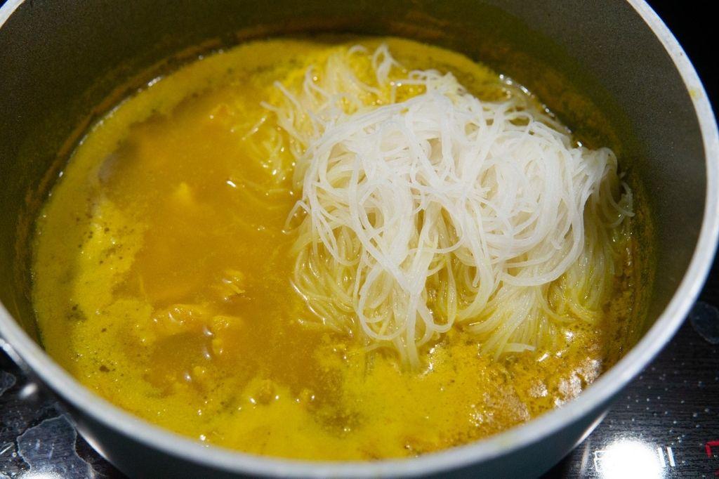 Procedimento zuppa di pollo Thaj