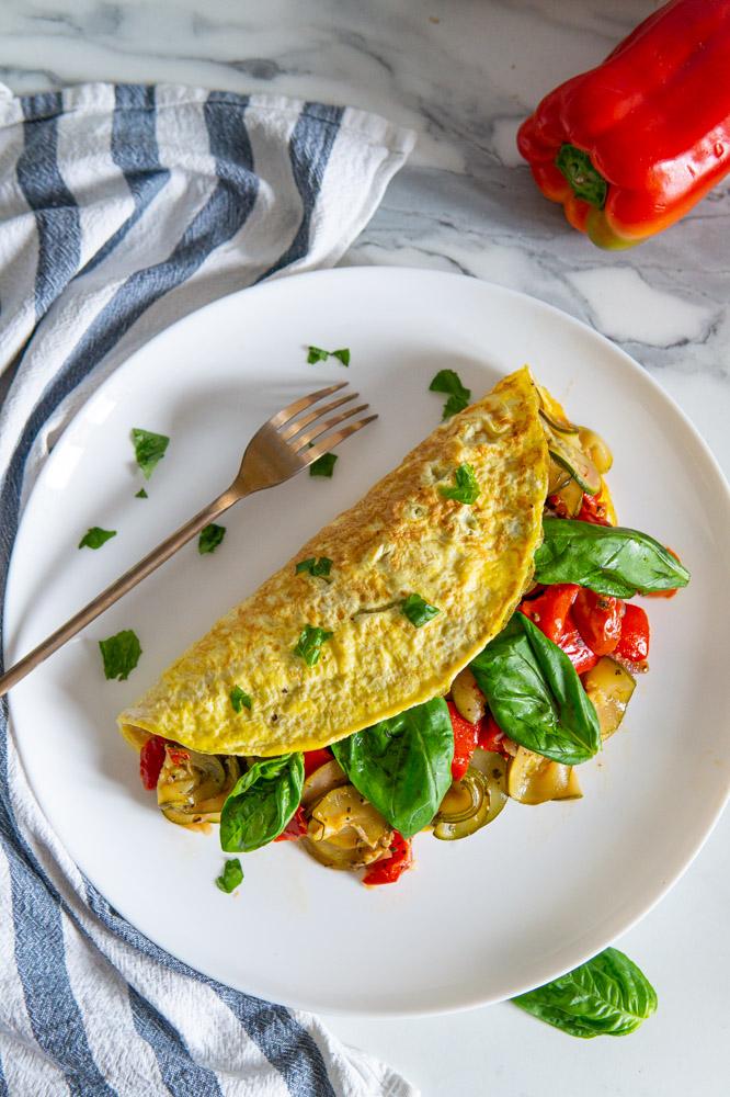 Omelette con verdure